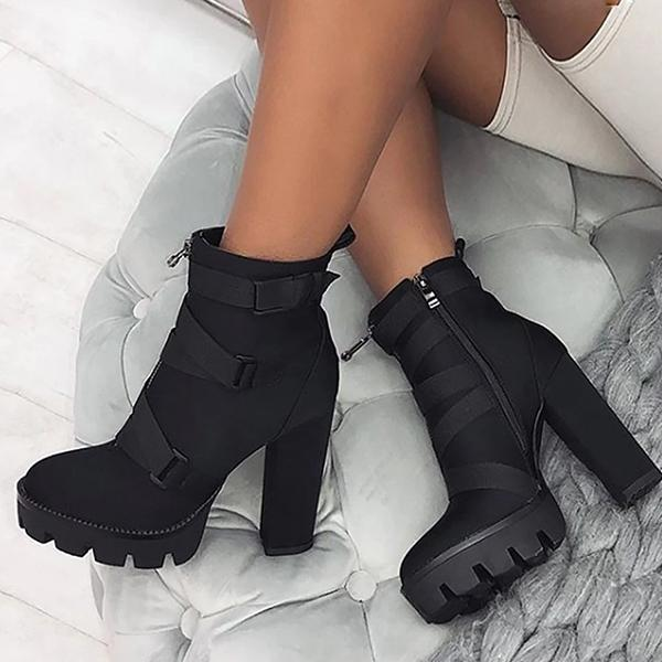Bonnieshoes Fashionable High Heel Ankle Boots