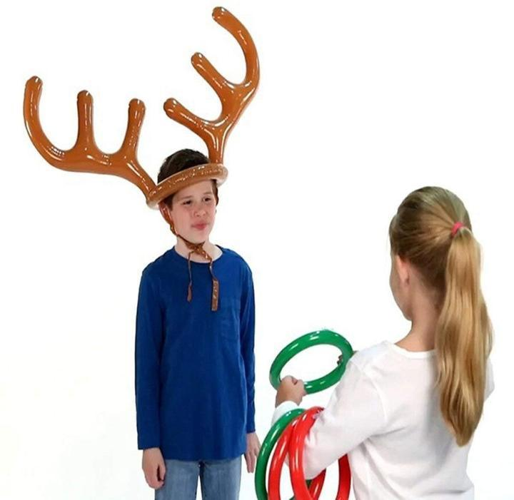 CHRISTMAS SALE - 40% OFF - Christmas Reindeer Antler Ring Toss Game