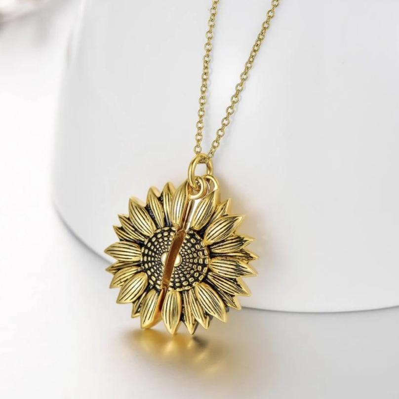 🎁Perfect Gift For Christmas🎁You Are My Sunshine Sunflower Necklace