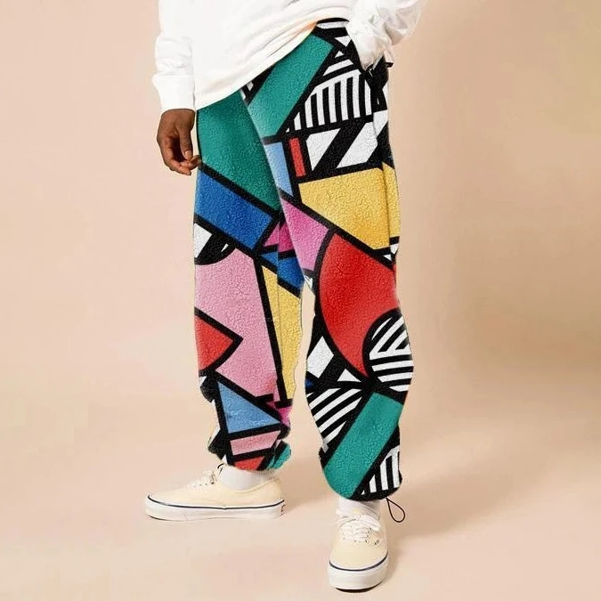 Fashion Casual Street Style Print Trousers