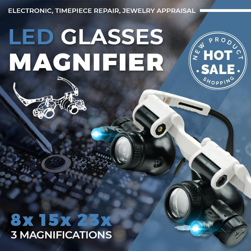 New Year Limited Time Offer Led Glasses Magnifier 8x 15x 23x