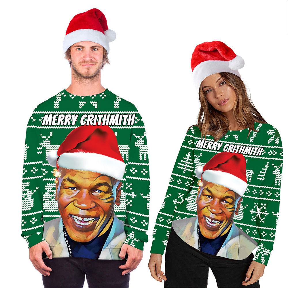 12 Ugly Christmas Sweatshirt Novelty 3D Graphic, Adult Neutral