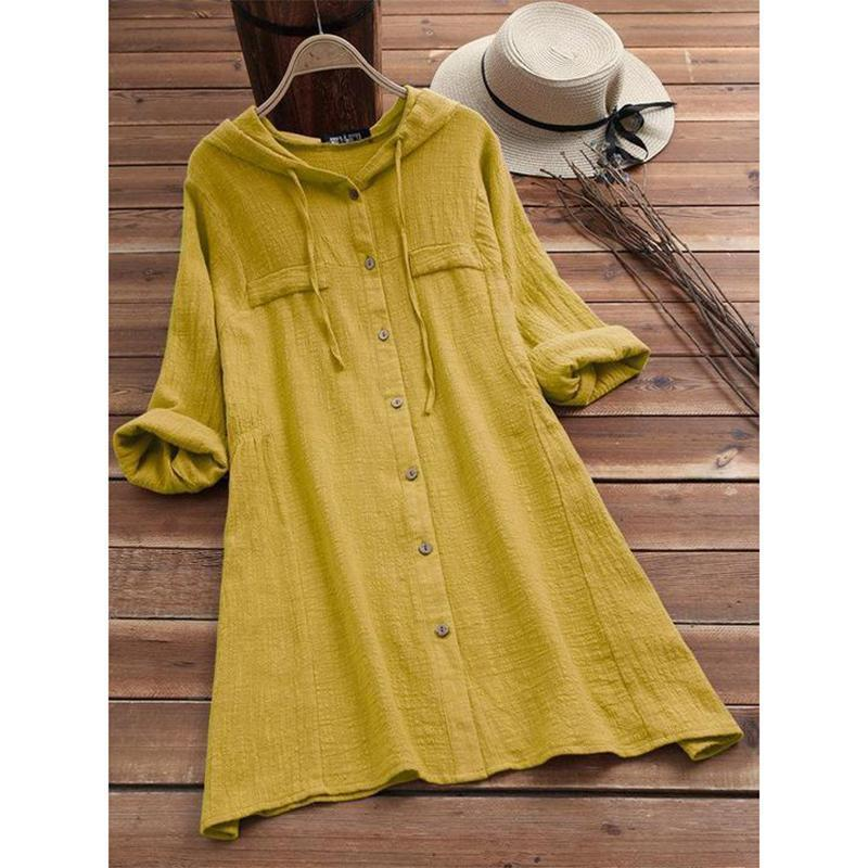 Loose Large Size Hooded Dress