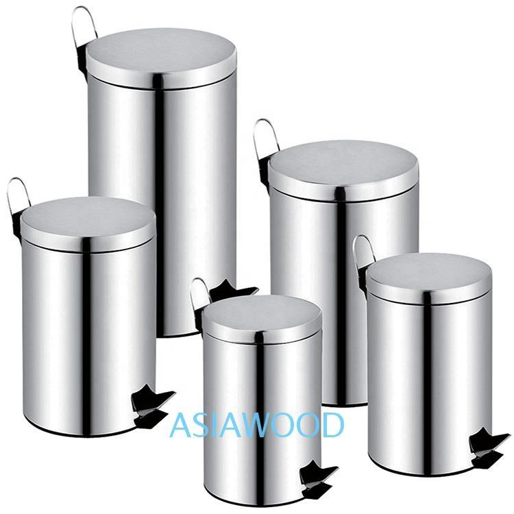 Hot selling stainless steel dust bin powder coating metal trash can trash can-1.20