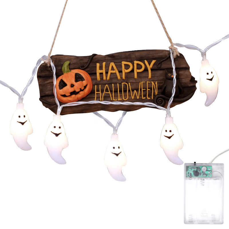Halloween LED ghost decoration colored light string