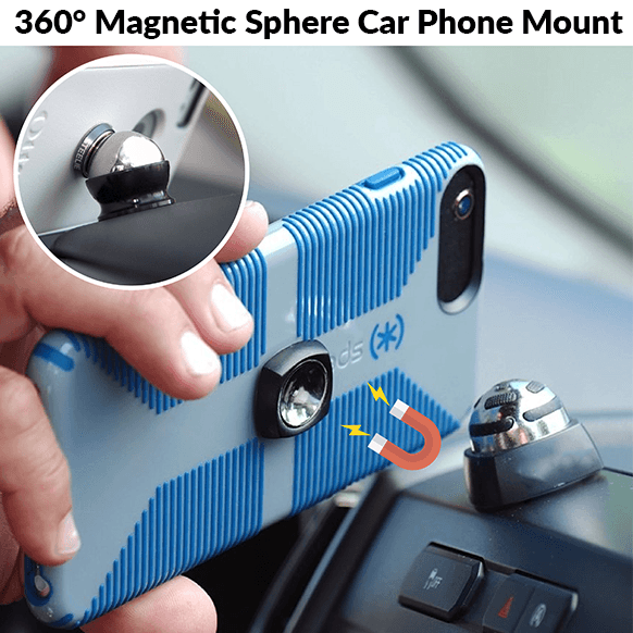 360° Magnetic Sphere Car Phone Mount