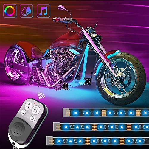 Last day promotion-Remote Control Waterproof RGB Motorcycle Lights