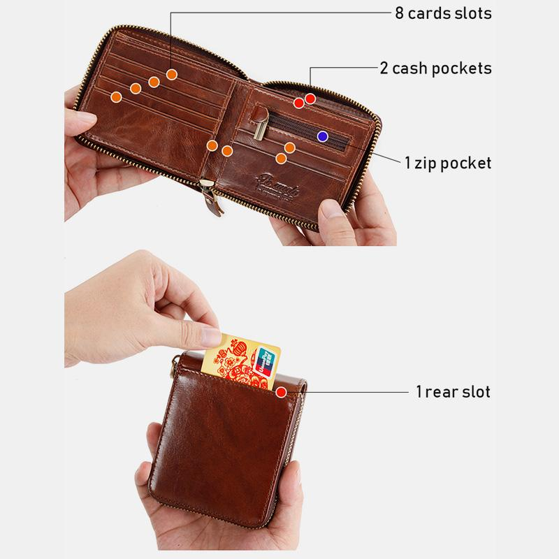 Multi-Slot Retro RFID Mini Wallet