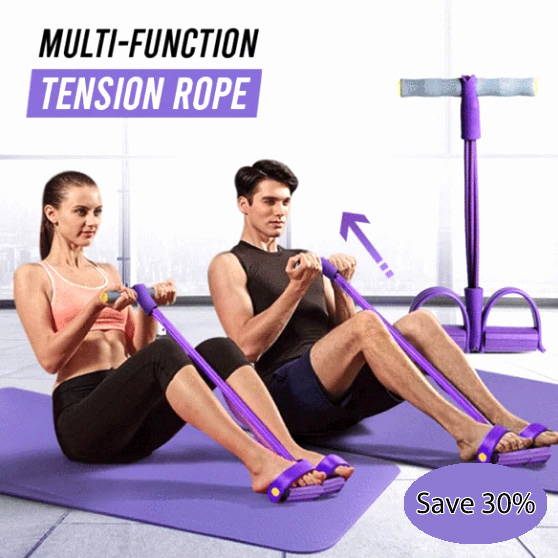 Multi-Function Tension Rope | Fitness Pedal Exerciser Foot Pedal Rope Pull Bands