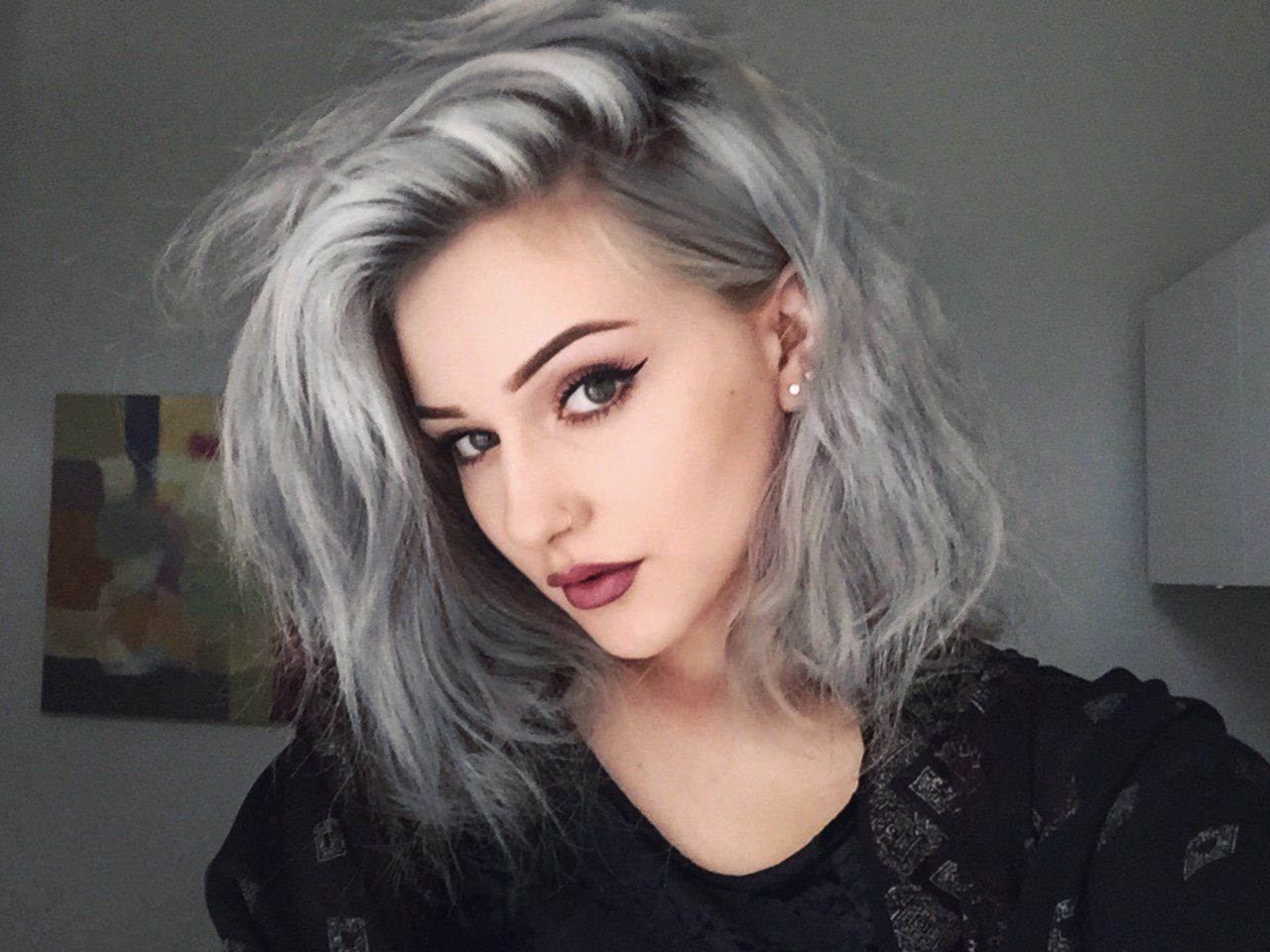Gray Hair Wigs For African American Women Quality Human Hair Wigs Highlights To Cover Grey Hair Grey And Purple Hair Ponytail Wigs Black Hair Wigs And Extensions