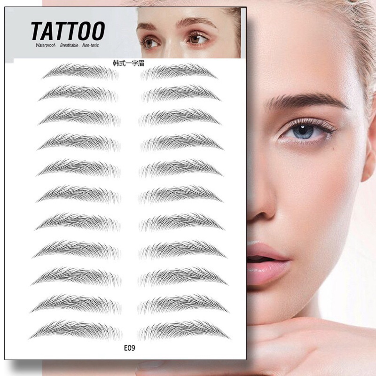 4D Hair Like Eyebrow Tattoo Sticker