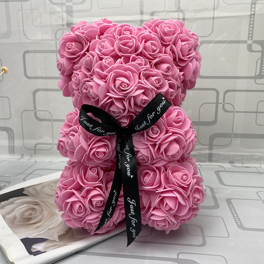 Valentine's Day, Christmas Gift Red Rose Teddy Bear