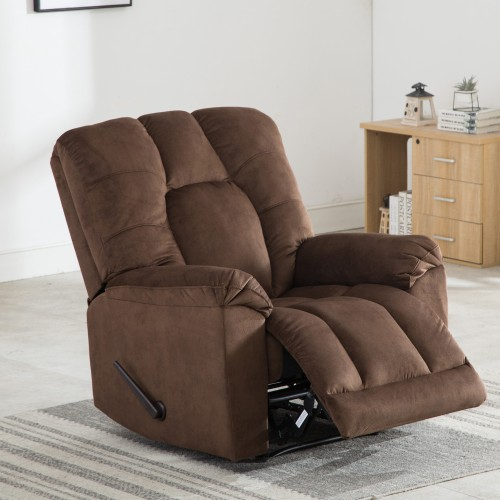 Buyonhome Fabric Manual Recliner Chair Adjustable Home Theater Seating
