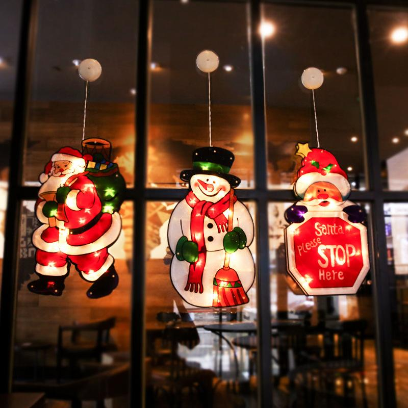 LED Christmas Decoration Light Suction Cup Hanging Lamp