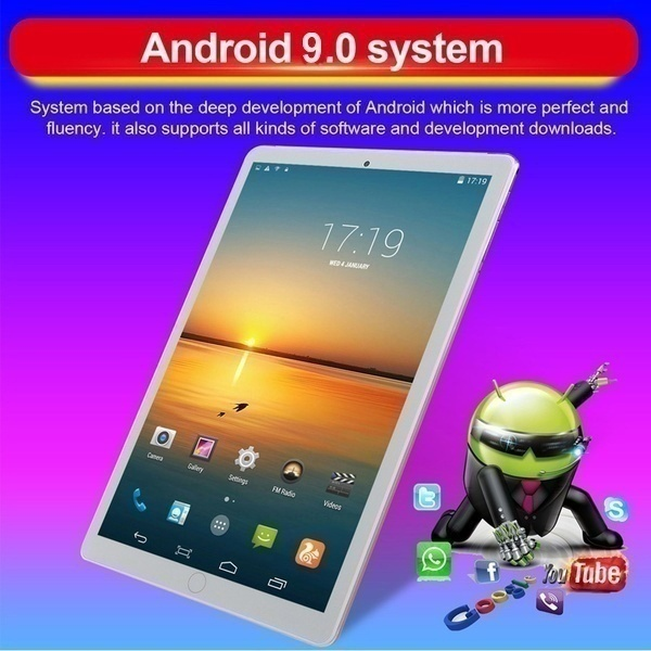 2020 Newest 10.1'Inch Tablet Pc 10 Core Tablets 10G+512G WiFi Tablet Android 10.0 HD Bluetooth Game Tablet Computer With Three Cameras Pk Huawei Tablet Ipad Air 2019 Ios 12 Ipad Ipad Pro Ipad Mini Ipad