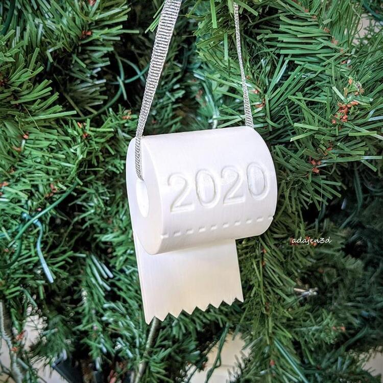 Christmas Ornaments 2020, Toilet Paper Ornament